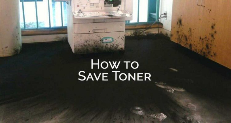 How to save copier toner