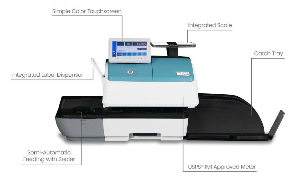 What is a postage meter diagram